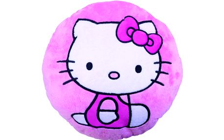 Kulatý polštářek Hello Kitty Body Pink 36cm