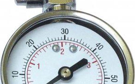 Pneuměřič SATURN kovový stříbrný 5cm