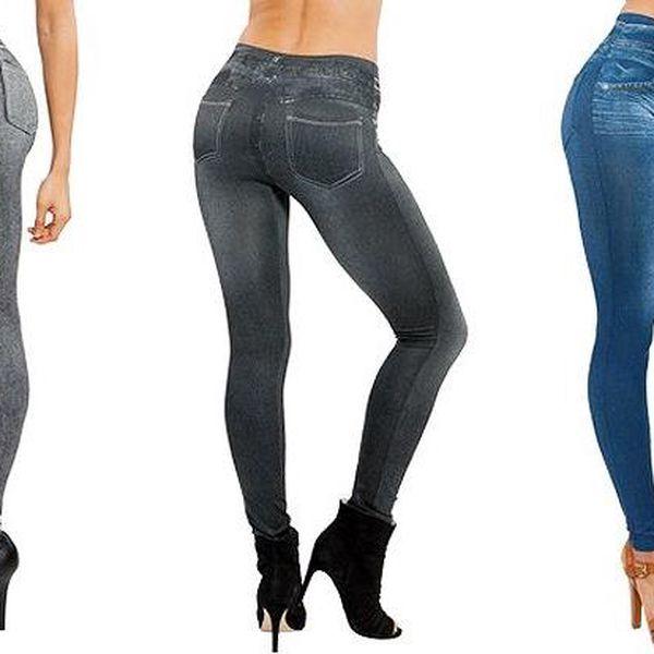 3 kusy elastických džínových legín ve 3 barvách pro každou postavu