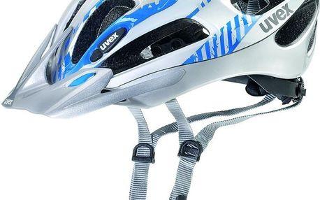 UVEX Supersonic silver-blue 51 - 57 cm cyklistická přilba