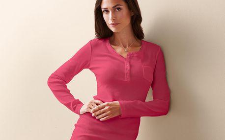 Tchibo, Pohodlné triko, růžové s melírem L (44/46)