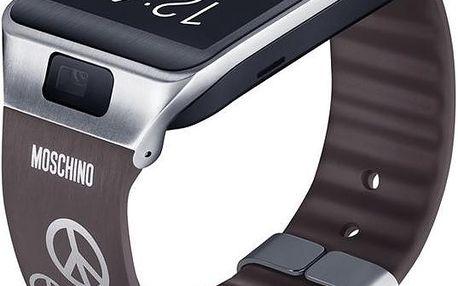 Samsung ET-SR380R výmenný pásek pro R380 Gear 2 a R381 Gear 2 Neo Moschino šedý