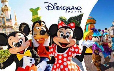 4denní zájezd do pohádkového Disneylandu a prohlídka Paříže - vstupenka i noc v hotelu