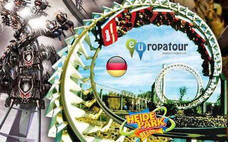 Jeden den zábavy na atrakcích v německém Heide Parku