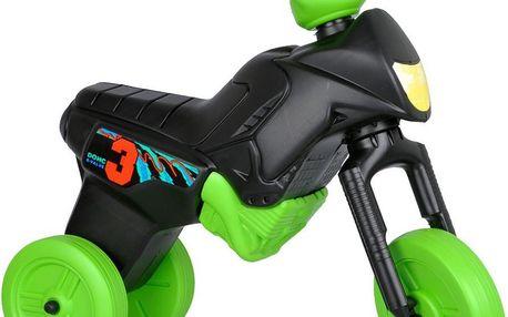 WORKER Enduro MAXI černo-zelené dětské odrážedlo