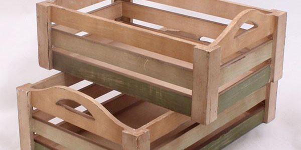 Sada dřevených přepravek Seaside, 2 ks