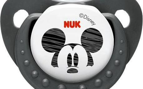 NUK Dudlík Trendline DISNEY-Mickey, silikon, velikost 2 (6-18m.)