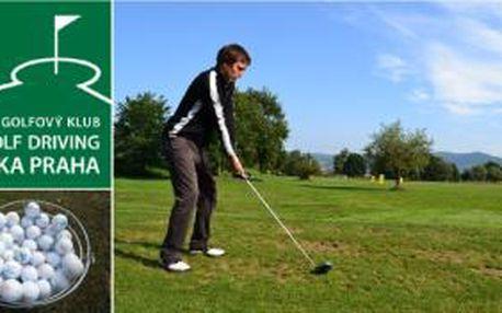 Staré golfové pravidlo říká, že kdo se chce zlepšit na hřišti, musí trénovat. Na drivingu v Divoké Šárce máte právě ideální příležitost - 4 x vstup, 4x 100 míčů, 4 x půjčení hole s 52% slevou
