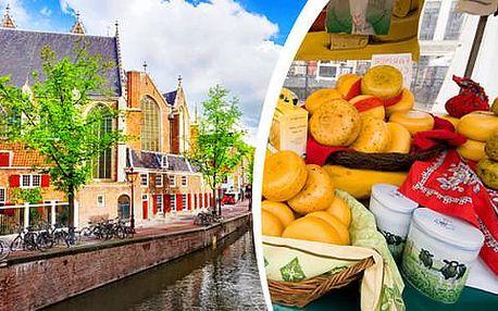4denní autobusový zájezd za krásami Holandska - tulipány, dřeváky, sýry a větrné mlýny