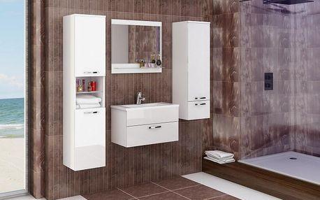 Sestava do koupelny Adel (bílá/bílý lesk)