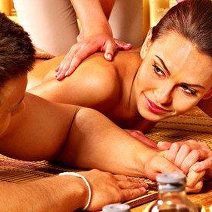 Thajská olejová nebo relaxační masáž pro jednoho nebo pro dva