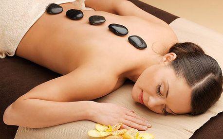 45minutová masáž lávovými kameny s diagnostikou v salonu Kondice v Plzni