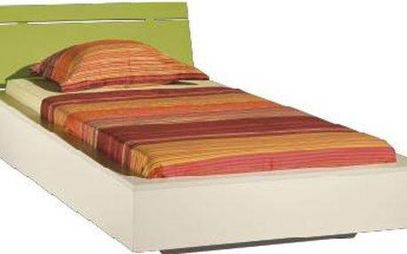 Dětská postel LABYRINT LA 22 (krémová/limetka)