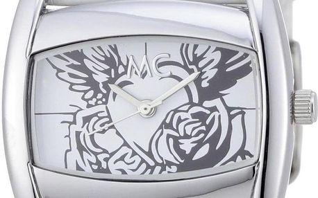 Stylové bílé MC hodinky s kresbou