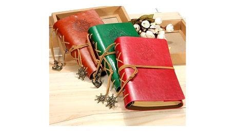 Cestovatelský deník v kožených deskách - dodání do 2 dnů