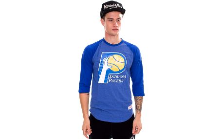 Triko Mitchell & Ness Team Logo Reglan Indiana Pacers Blue