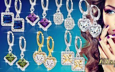 Nádherné náušnice Diamond Sparkle s třpytivými krystaly