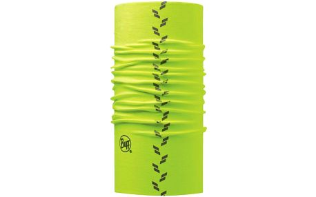 Praktický multifunkční šátek s reflexními prvky Buff Reflective R-yellow fluor