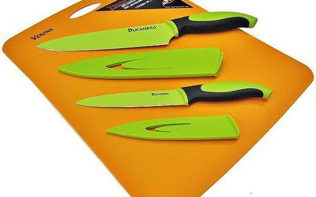 Souprava do kuchyně - 2 teflonové nože + prkénko