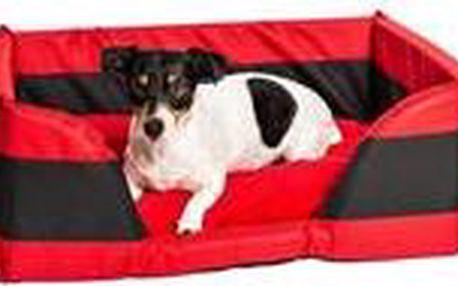 Pelech obdélník nyl+frot soft Memory červeno/černý 60 x 45 x 24 cm