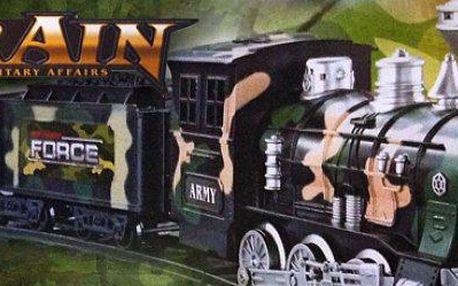 Vojenský nákladní vlak: model
