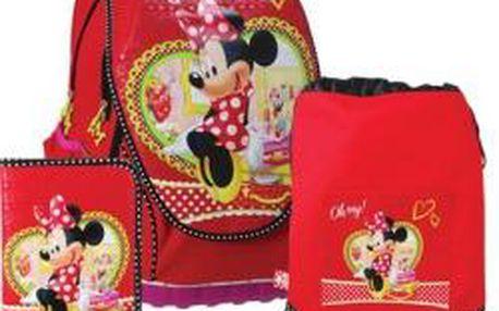 SUNCE ABB Set Disney Minnie červený