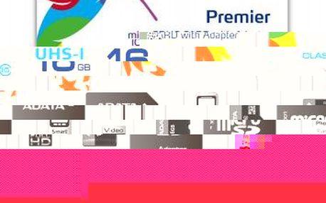 ADATA 16GB MicroSDHC Premier UHS-I Class 10 + SD redukce