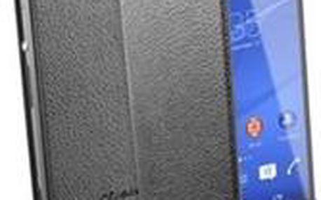 CellularLine Essential flipové pouzdro pro Sony D6603 Xperia Z3 černé