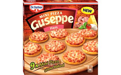Dr. Oetker Dr. Oetker Guseppe Mini Pizza Ham 270g (9x 30g)