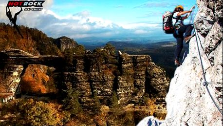 Via Ferraty - horolezecký zážitek v Českosaském Švýcarsku nebo v Děčíně