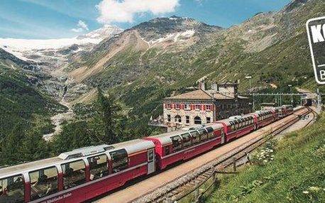 Jízda vyhlídkovým vlakem Bernina Express+…