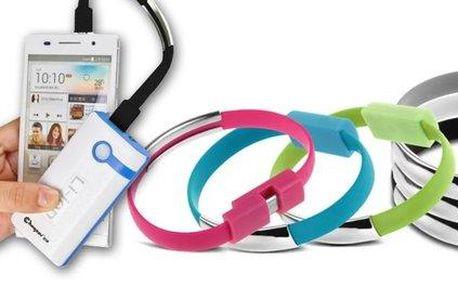 Multifunkční náramek micro USB nebo pro iPhone