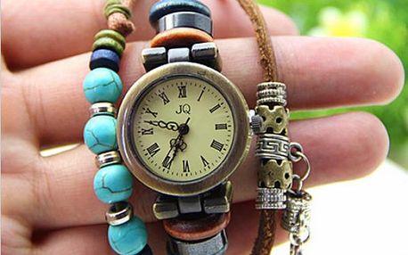 Vintage hodinky s korálky!