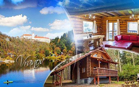 VRANOVSKÁ PŘEHRADA - RYBÁŘSKÝ SRUB na 3 nebo 7 dní až pro 7 osob s vybavením! Koupací sud + sauna!