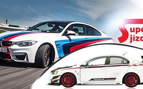 15 km jízda v BMW M4 Coupe Performance Safety Car nebo v MITSUBISHI Lancer EVO X v závodní úpravě.