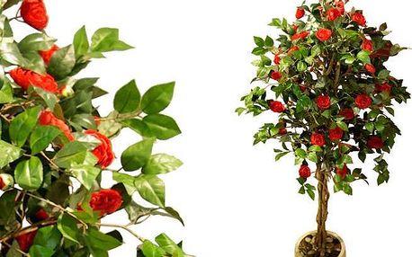 Umělá květina - Kamélie červená 200 cm