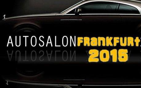 1790 Kč za zájezd na autosalon do Frankfurtu 26. - 27.9.2015. Jedinečný zážitek - cena vč.dopravy a celodenní vstupenky