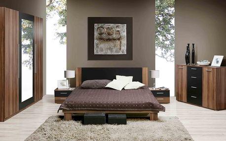 HELEN, ložnice komplet, ořech/černá