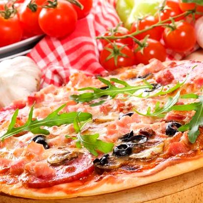 2x propečená pizza v italské restauraci v Praze