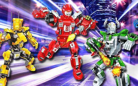Roboti Transformer od značkové stavebnice…