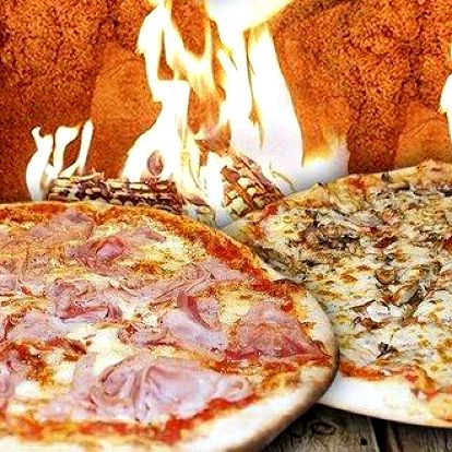 2 italské pizzy v podzimním odpoledni