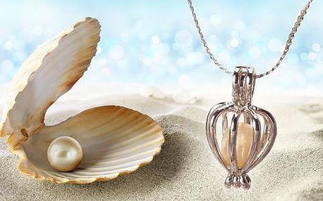 Pravá přírodní perla i s náhrdelníkem