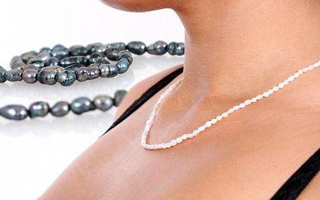 Elegantní náhrdelník z pravých perel ve dvou barevných provedeních