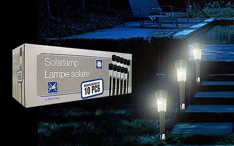 10 ks LED solárních lampiček