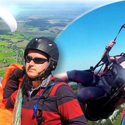 Tandemový paragliding v Beskydech včetně videozáznamu a ochutnávky akrobatických prvků!