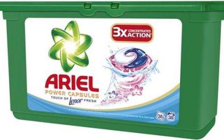 Prací prostředek Ariel Touch of Lenor tekuté tablety 38 ks