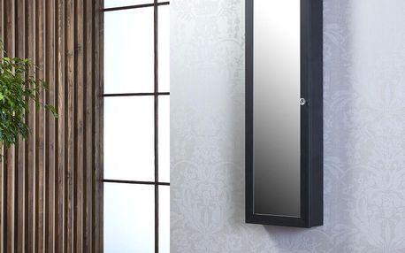 Závěsné zrcadlo se šperkovnicí Gaudi, černé - doprava zdarma!