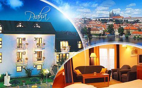 Praha - stylový Hotel Monica***. Pobyt pro 2 osoby na 2 nebo 3 dny v de luxe pokojích se snídaněmi a 3chod. večeřemi.