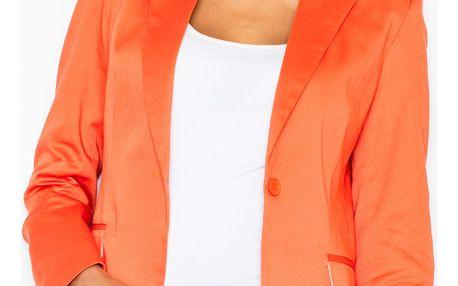 Nadčasové dámské sako Kornélie - oranžové M