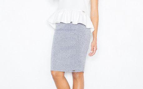 Jednoduchá přiléhavá sukně Erika - šedá L